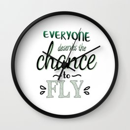 Everyone Deserves The Chance To Fly | Defying Gravity Wall Clock