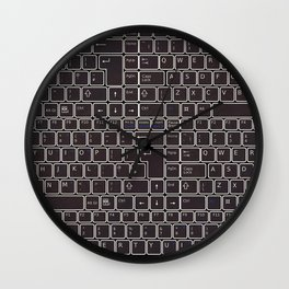 keyboard- typewriter-style device Wall Clock