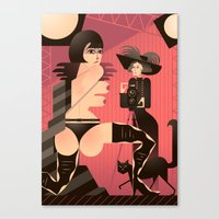 valentina Canvas Prints featuring Valentina by Gabriela Zurda