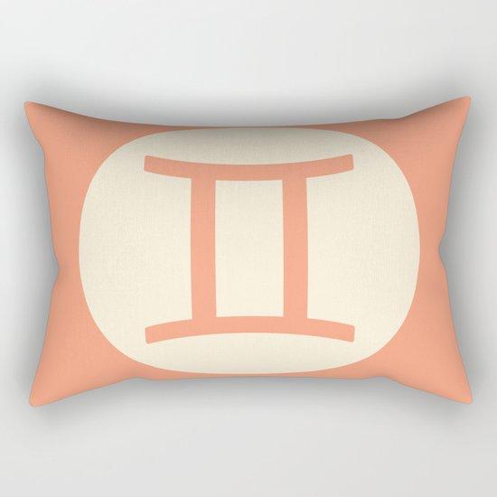 Gemini Symbol Pink Rectangular Pillow
