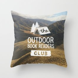 The Outdoor Book Readers Club Throw Pillow