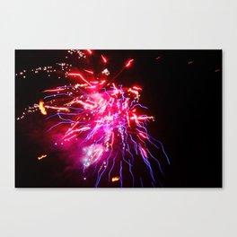 Electro Thai Fireworks Canvas Print