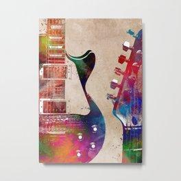 Guitar art 6 #guitar #music Metal Print