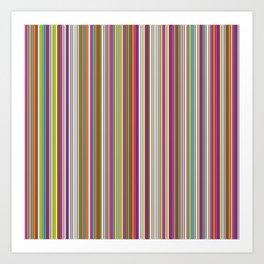 Stripes & stripes Art Print