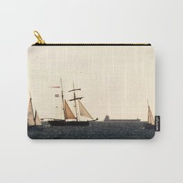 Sailboats in a windy day Carry-All Pouch