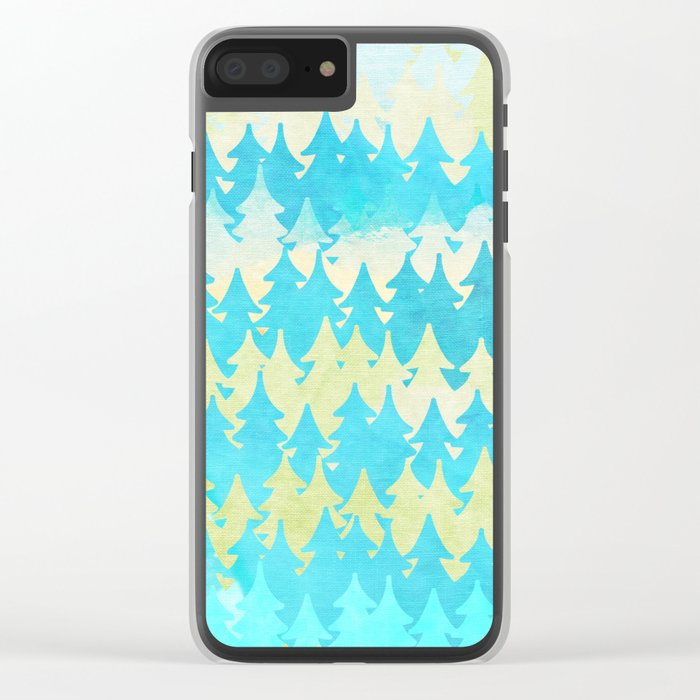 The secret forest - on a wonderful day - Abstract tree pattern Clear iPhone Case