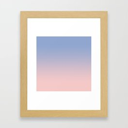 Pantone Rose Quartz and Serenity Ombre Framed Art Print