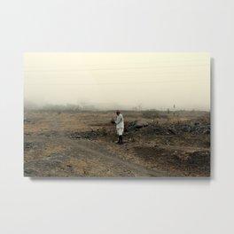 alone in the desert Metal Print