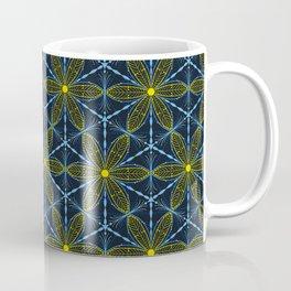Abstract flower motif - seamless pattern Coffee Mug