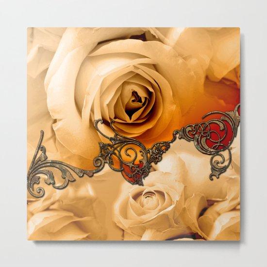Wonderful roses in soft colors Metal Print
