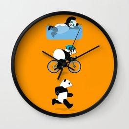 Panda Triathlon Wall Clock