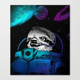 Astronaut Sloth 2 Canvas Print