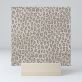 Vintage grange pastel color leopard print Mini Art Print