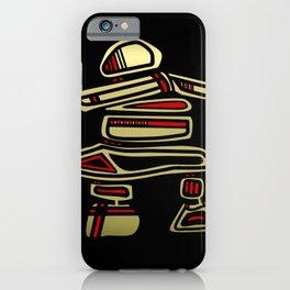 Tribal Inuksuk Stone Totem Figure iPhone Case