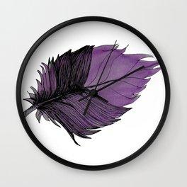 Purple Leaf Wall Clock