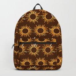 Art Deco Starburst in Brown Backpack