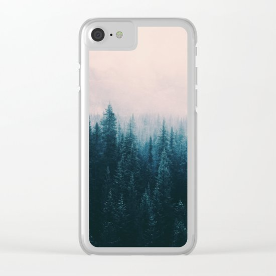 Pastel Forest Clear iPhone Case
