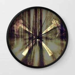 Burning Ax Wall Clock