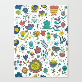 Flowers, flower meadow, nature Canvas Print