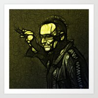 u2 Art Prints featuring U2 / Bono 1 by JR van Kampen