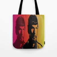 spock Tote Bags featuring Spock by SVA🌺