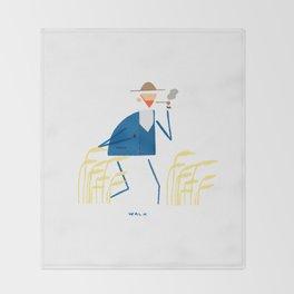 A walk with Van Gogh Throw Blanket
