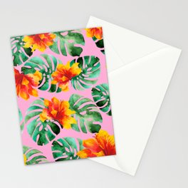 Tropical Monstera Bloom Stationery Cards