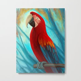 Technicolor Macaw Metal Print