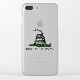 Gadsden Don't Tread On Me Flag - Authentic version Clear iPhone Case