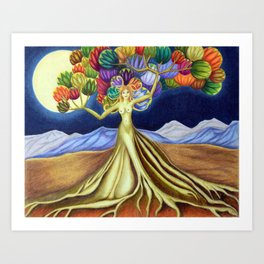 Grace in Full Bloom Art Print