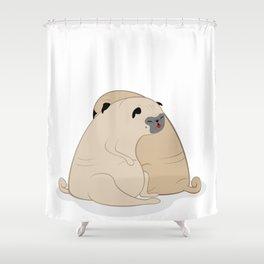 Sleeping Pugs Shower Curtain
