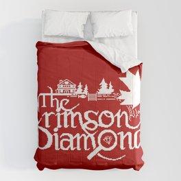 The Crimson Diamond monochromatic logo Comforters