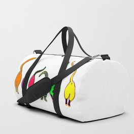 Colorful Cat Butts Duffle Bag