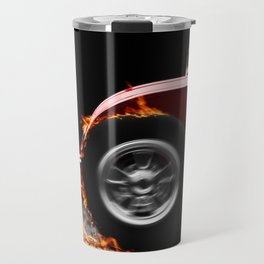 Hotrod Burnout Travel Mug