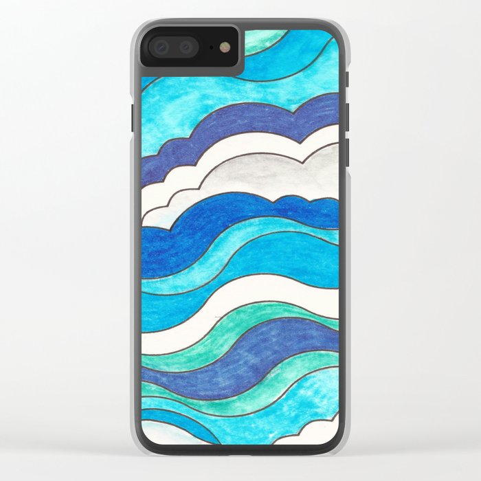 Make Waves II Clear iPhone Case