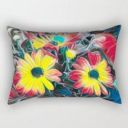 abstract gerbera daisy Rectangular Pillow