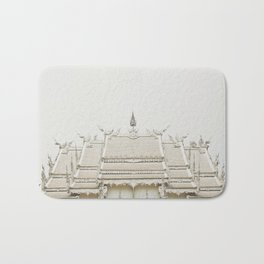 White temple, Thailand Bath Mat
