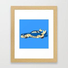 Blue Skyline Framed Art Print