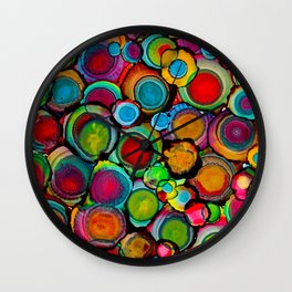 Conscious Overlap (Alcohol Inks Series 03) Wall Clock
