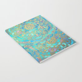 Sapphire & Jade Stained Glass Mandalas Notebook