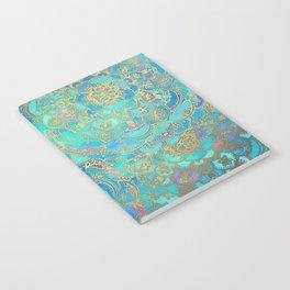 Sapphire & Jade Stained Glass Mandalas Notebook
