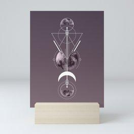 Lunar Eclipse Lineart Totem Mini Art Print