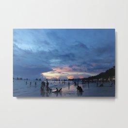 Sunset Beach 3 (Boracay, Philippines) Metal Print