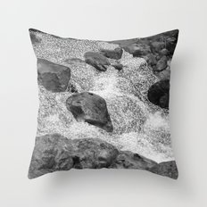 geometric waterfall Throw Pillow