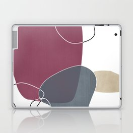 Abstract Glimpses in Mulberry and Peninsula Blue Laptop & iPad Skin