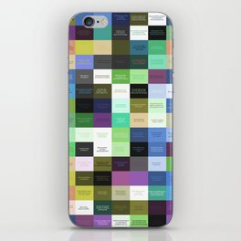 Colored life quotes iPhone Skin