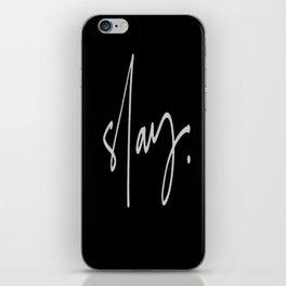 Slay (black) iPhone Skin
