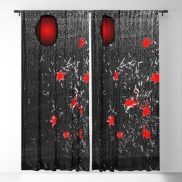 Red star Blackout Curtain