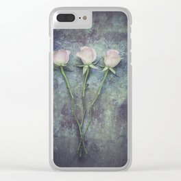 Three Roses II Clear iPhone Case