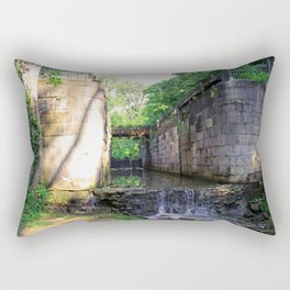 Side Cut Locks III Rectangular Pillow